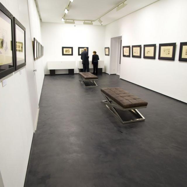 galleria d'arte in microcemento
