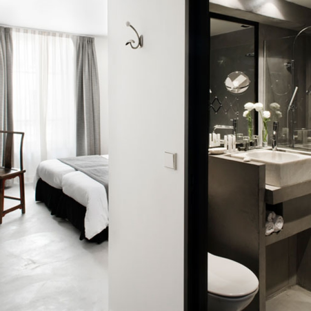 Hotel Pulitzer con bagno in microcemento