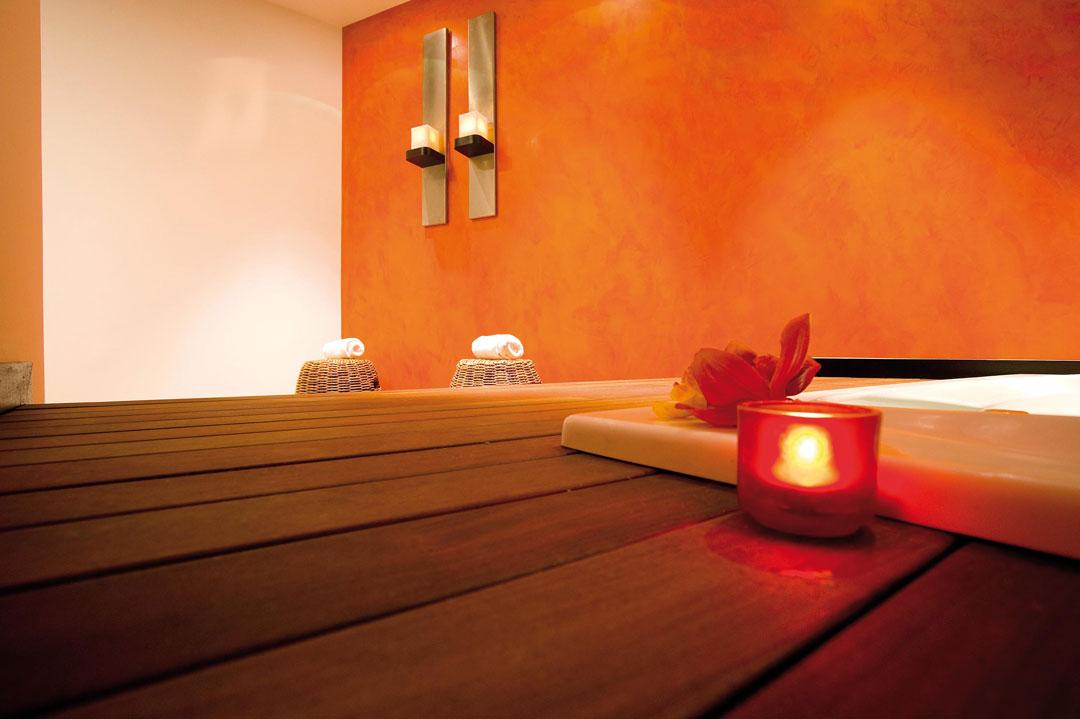 Sala massaggi Wellington in microcemento
