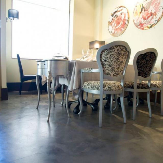 ristorante in microcemento