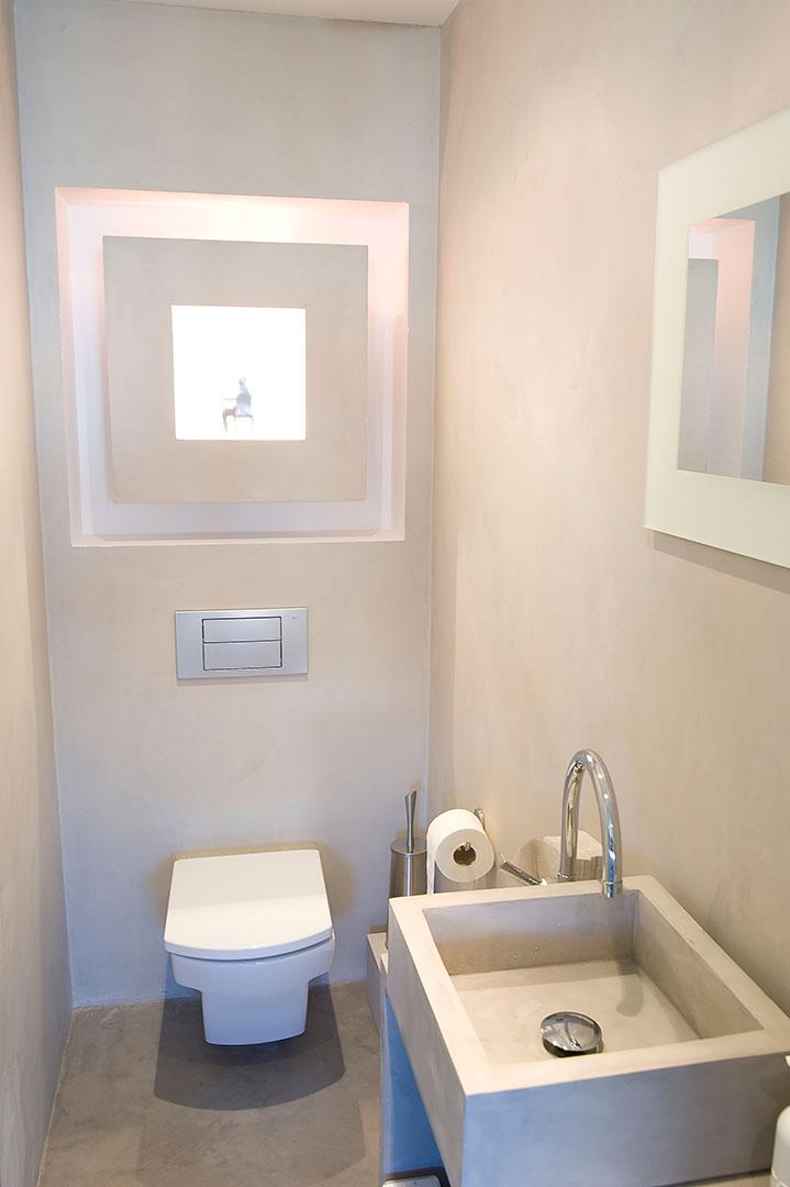 Sala da bagno in microcemento