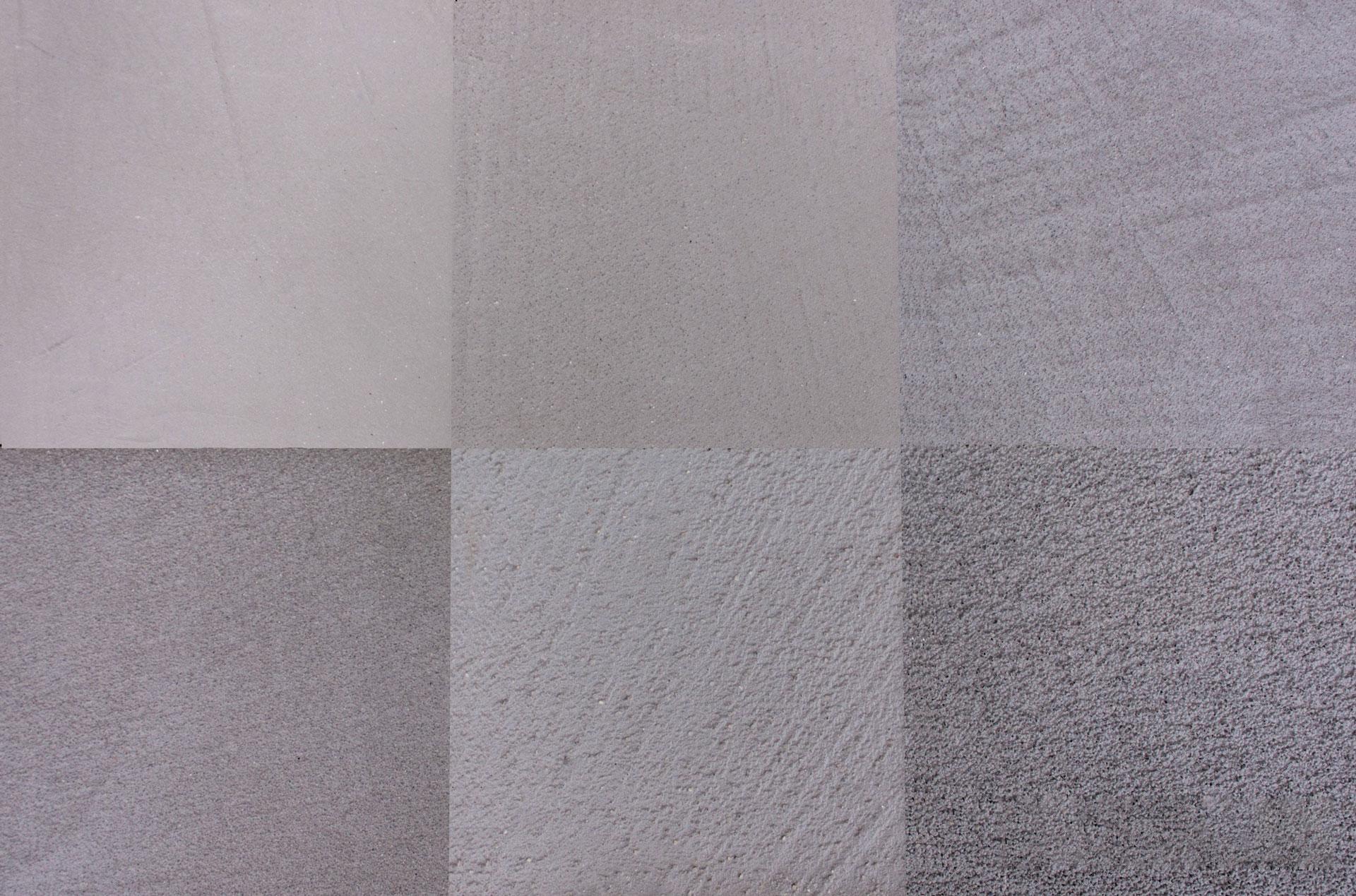 Texture grigie con le varie sfumature del microcemento